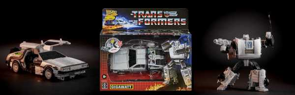 VORBESTELLUNG ! Back to the Future Transformers Mash-Up Gigawatt Actionfigur