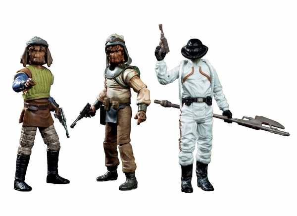 STAR WARS VINTAGE 10 cm SKIFF GUARD 3-PACK defekte Verpackung