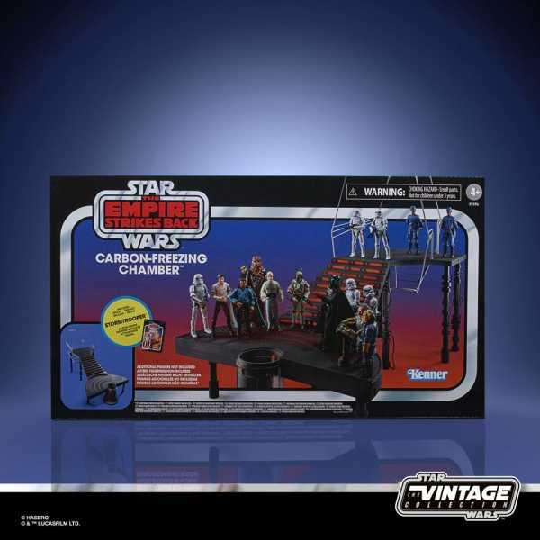 VORBESTELLUNG ! Star Wars E V Vintage Collection Carbon-Freezing Chamber & Stormtrooper Actionfigur