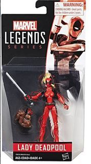 MARVEL 10 cm LEGENDS LADY DEADPOOL ACTIONFIGUR