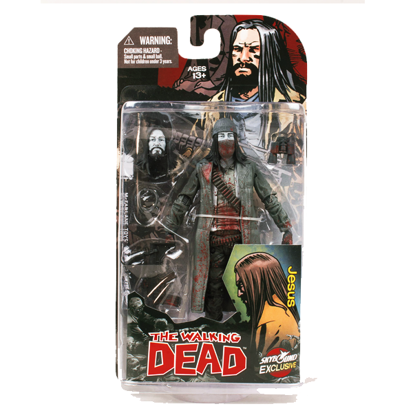 THE WALKING DEAD JESUS ACTIONFIGUR BLACK & WHITE BLOODY VERSION