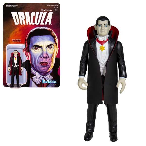UNIVERSAL MONSTERS WAVE 2 DRACULA REACTION ACTIONFIGUR