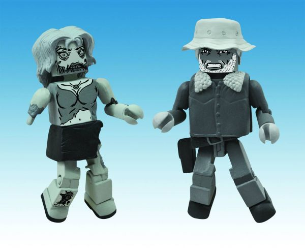 WALKING DEAD MINIMATES HALLOWEEN 2012 BLACK&WHITE 2-PACK