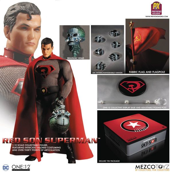 ONE-12 COLLECTIVE DC PX SUPERMAN RED SON ACTIONFIGUR