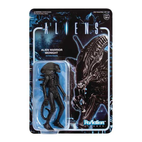 Aliens ReAction Wave 1 Alien Warrior Midnight Black 10 cm Actionfigur