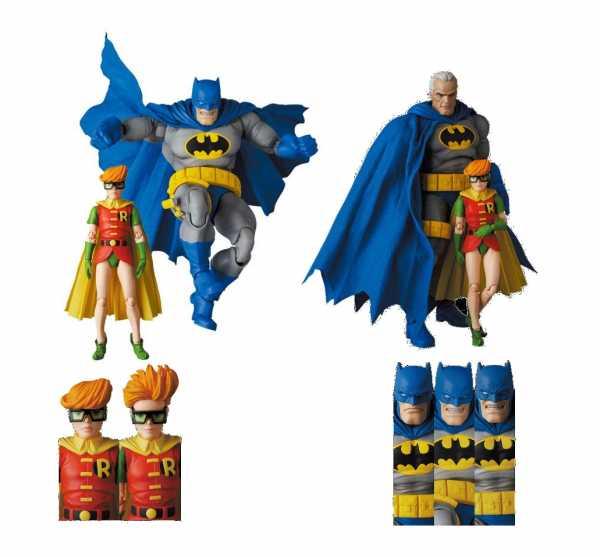 VORBESTELLUNG ! Batman - Dark Knight Returns MAFEX Batman Blue Vers. & Robin 11- 16 cm Actionfiguren