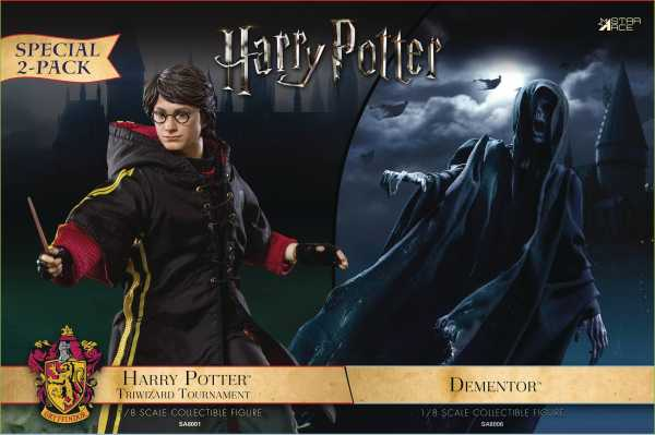 HARRY POTTER & THE GOBLET OF FIRE DEMENTOR WITH HARRY 1/8 COLLECTIBLE ACTIONFIGUREN 2-PACK