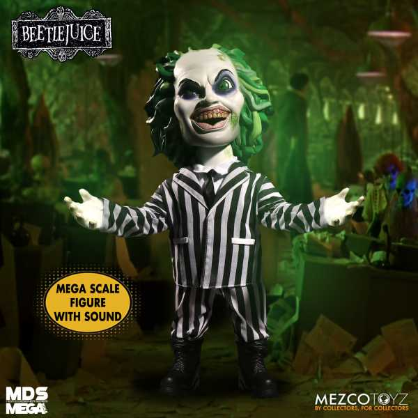 MDS MEGA SCALE TALKING BEETLEJUICE FIGUR