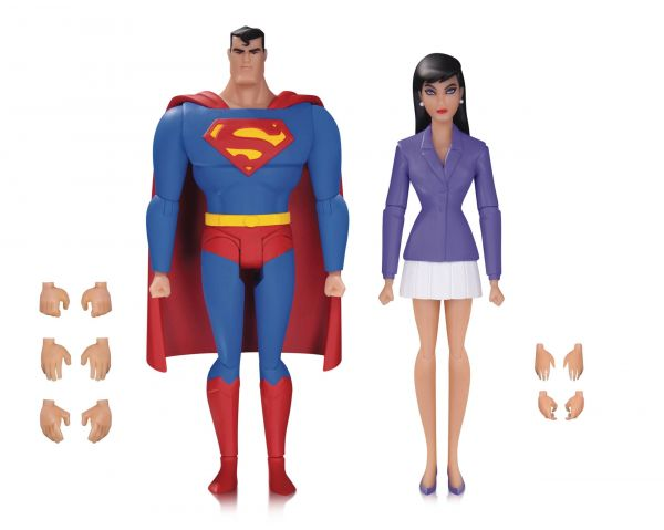 SUPERMAN ANIMATED SERIES SUPERMAN & LOIS LANE ACTIONFIGUREN 2-PACK