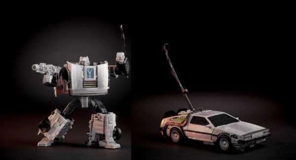 VORBESTELLUNG ! Transformers x Zurück in die Zukunft DeLorean 14 cm Actionfigur