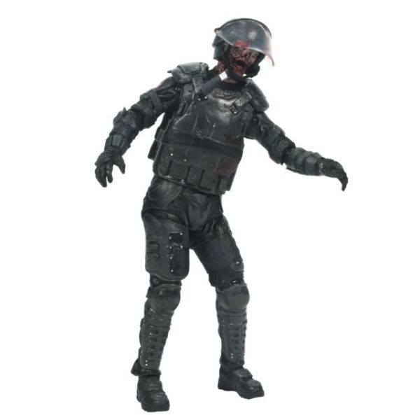 THE WALKING DEAD TV SERIES 4 RIOT GEAR ZOMBIE ACTIONFIGUR
