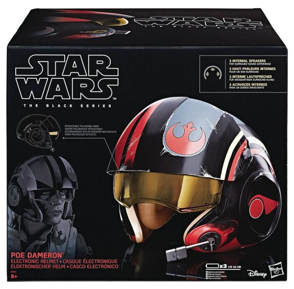 STAR WARS BLACK SERIES EPISODE 8 POE DAMERON ELECTRONIC HELM