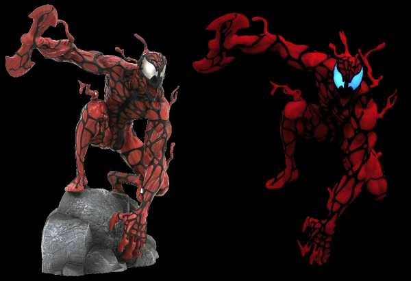 HCF 2020 MARVEL GALLERY CARNAGE GLOW IN THE DARK PVC STATUE