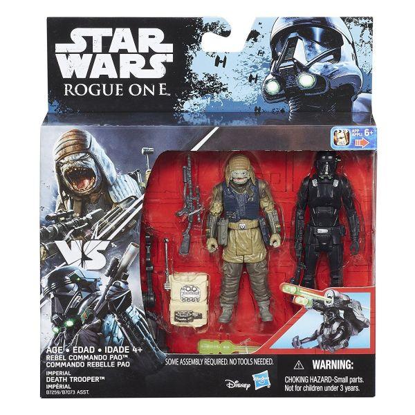 Star Wars Rogue One Rebel Commando Pao vs. Imperial Death Trooper 10cm Actionfiguren 2-Pack