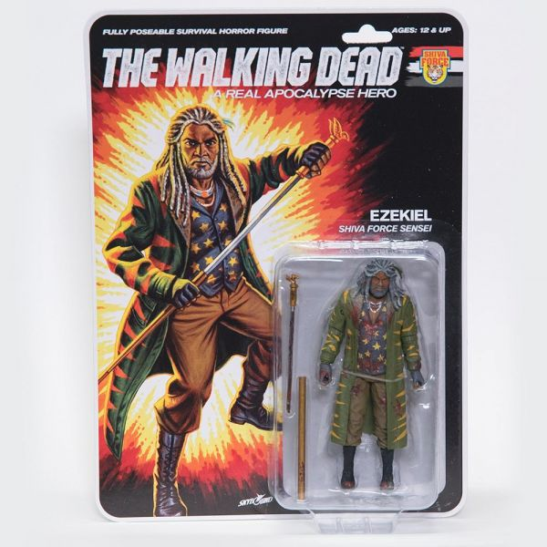 THE WALKING DEAD - A REAL APOCALYPSE HERO EZEKIEL ACTIONFIGUR BLOODY VERSION
