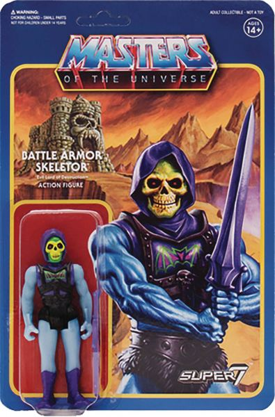 MASTERS OF THE UNIVERSE WAVE 3 BATTLE ARMOR SKELETOR 10 cm ACTIONFIGUR