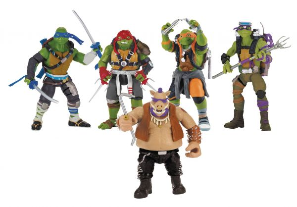 TEENAGE MUTANT NINJA TURTLES MOVIE 2 27,5cm ACTIONFIGUREN KOMPLETT-SET