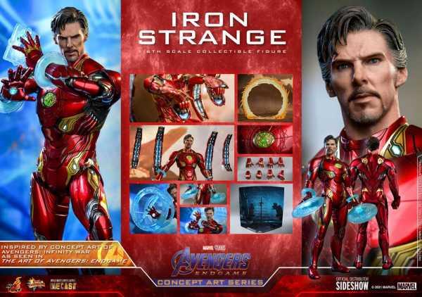 AUF ANFRAGE ! Avengers: Endgame Concept Art Series 1/6 Iron Strange 32 cm PVC Actionfigur
