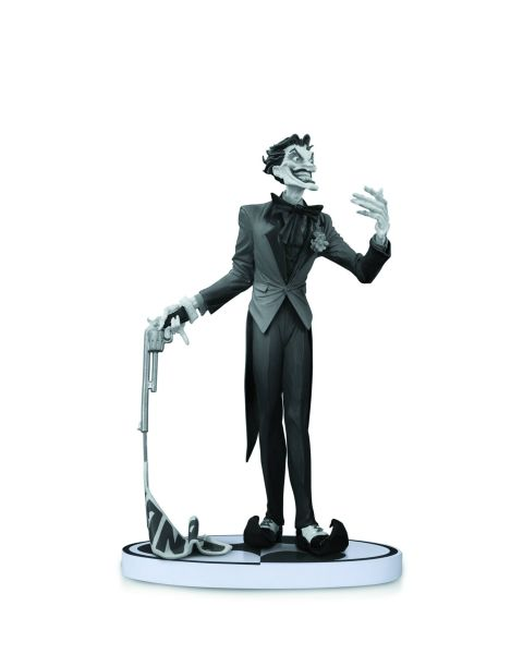 BATMAN BLACK AND WHITE STATUE JOKER BY JIM LEE 2ND EDITION