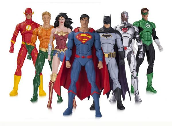 DC REBIRTH JUSTICE LEAGUE ACTIONFIGUREN 7-PACK