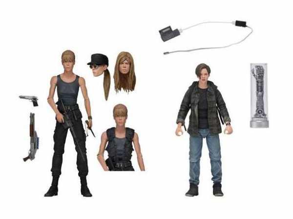 VORBESTELLUNG ! Terminator 2 Tag der Abrechnung Sarah Connor & John Connor 18 cm Actionfiguren Set