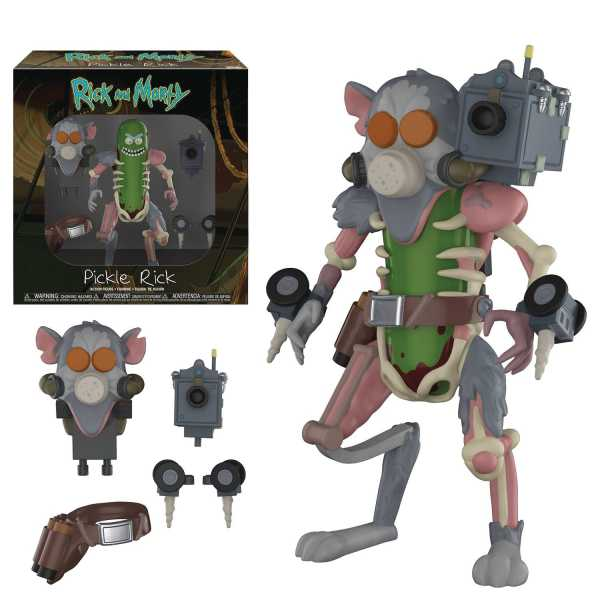 FUNKO RICK & MORTY PICKLE RICK ACTIONFIGUR