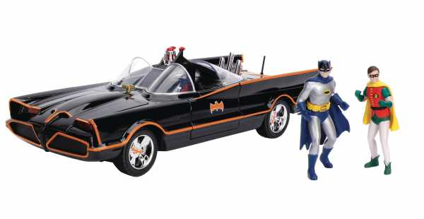 METALS BATMAN CLASSIC TV SERIES BATMOBILE 1/18 FAHRZEUG