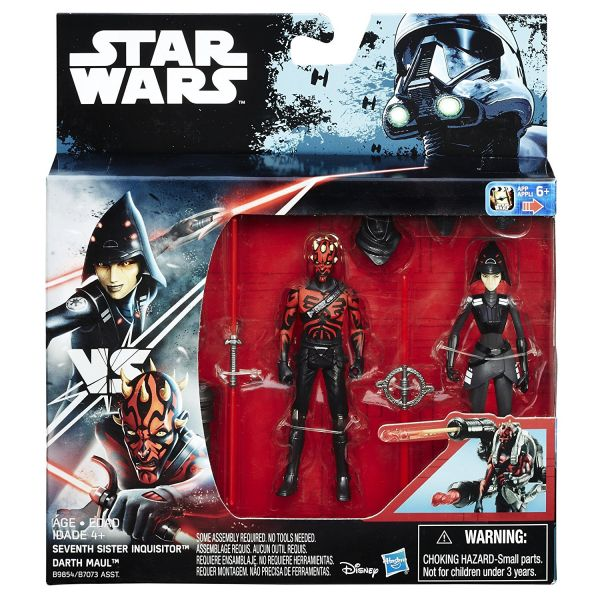 Star Wars Rebels Seventh Sister Inquisitor vs. Darth Maul 10cm Actionfiguren 2-Pack