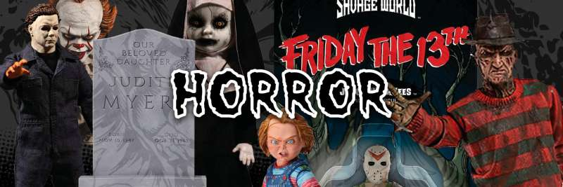 Horror Actionfiguren aus IT, Freitag der 13  , Halloween, Evil Dead