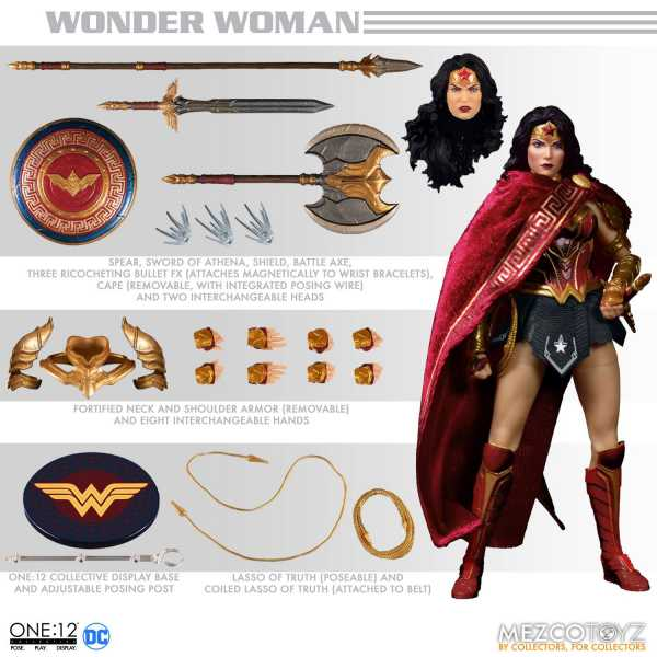 VORBESTELLUNG ! DC Comics 1/12 Wonder Woman 17 cm Actionfigur