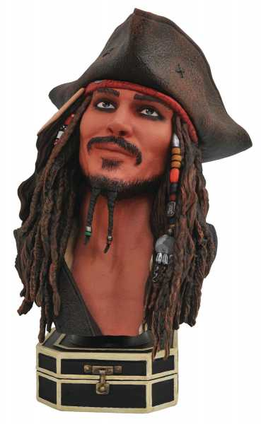 LEGENDS IN 3D PIRATES OF THE CARIBBEAN JACK SPARROW 1/2 SCALE BÜSTE