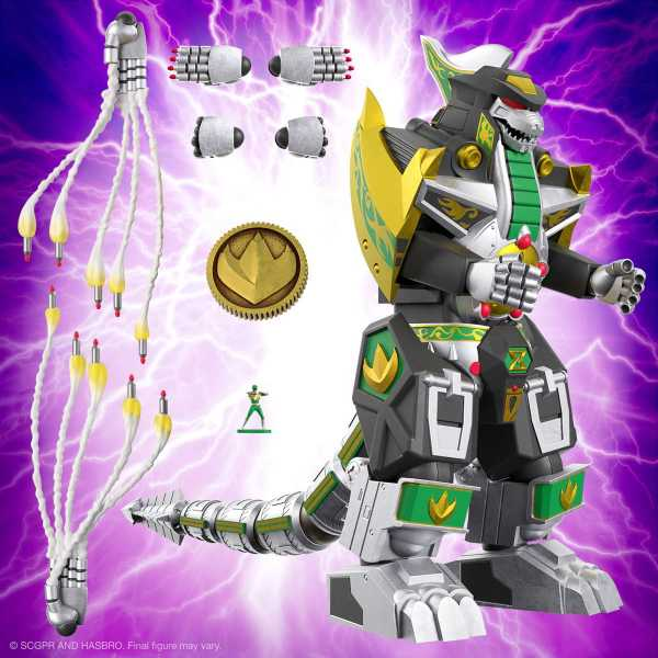 VORBESTELLUNG ! Power Rangers Ultimates Dragonzord 7 Inch Actionfigur