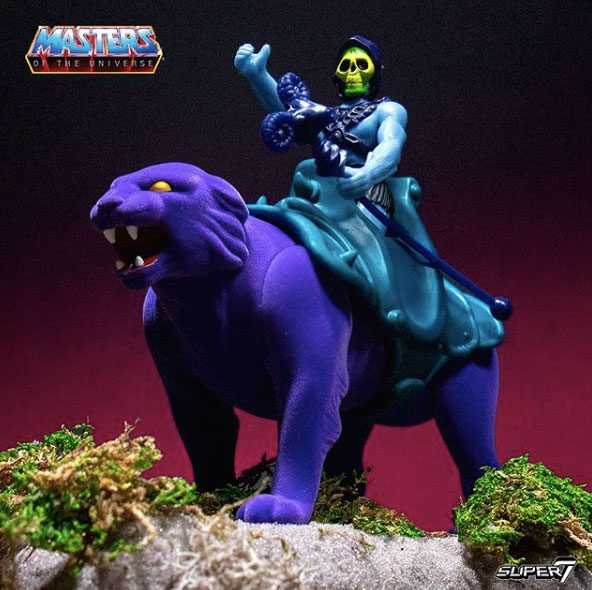VORBESTELLUNG ! Masters of the Universe ReAction Skeletor & Panthor 10 cm Actionfiguren Doppelpack
