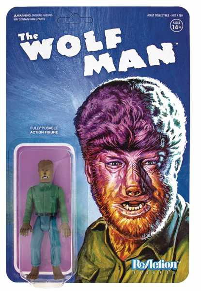 UNIVERSAL MONSTERS WOLFMAN REACTION ACTIONFIGUR