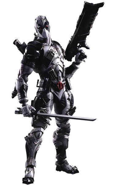 MARVEL UNIVERSE VARIANT PLAY ARTS KAI DEADPOOL ACTIONFIGUR X-FORCE VERSION