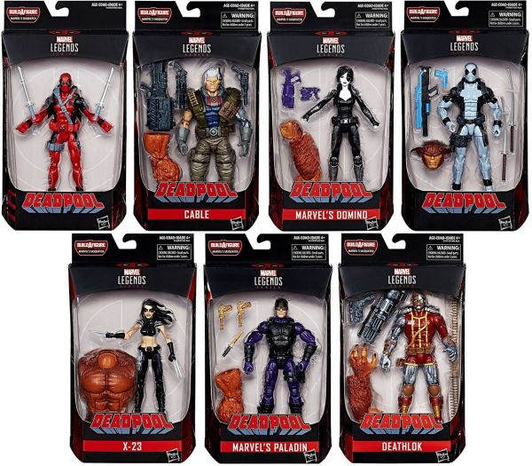 DEADPOOL LEGENDS SASQUATCH ACTIONFIGUREN SET