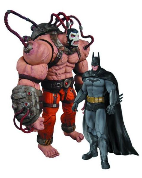 BATMAN ARKHAM CITY BATMAN VS BANE ACTIONFIGUREN 2 PACK