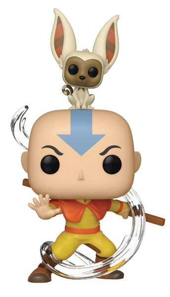 POP ANIMATION AVATAR AANG WITH MOMO VINYL FIGUR