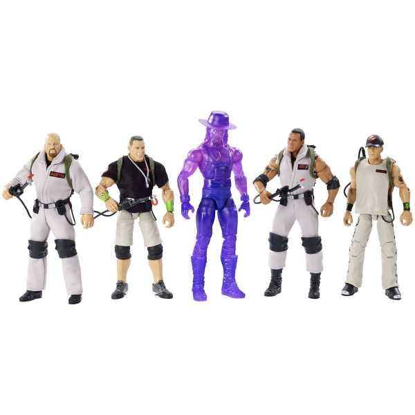 VORBESTELLUNG ! WWE Ghostbusters Elite Collection Actionfiguren Komplett-Set