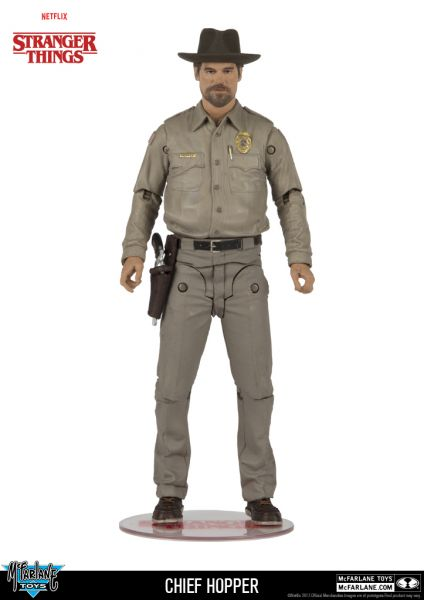 STRANGER THINGS 17,5 cm CHIEF HOPPER ACTIONFIGUR