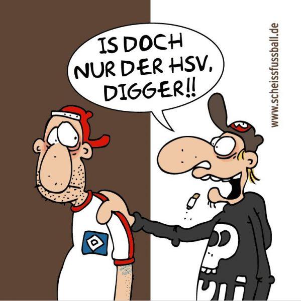 """""""IS DOCH NUR DER HSV"""" AUFKLEBER 10 STÜCK (GROSS)"""