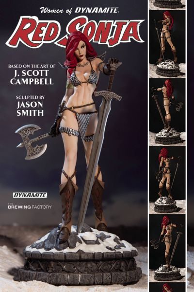 WOMEN OF DYNAMITE RED SONJA STATUE