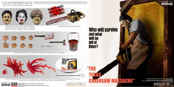 VORBESTELLUNG ! The Texas Chainsaw Massacre (1974) Leatherface One:12 Collective Deluxe Actionfigur