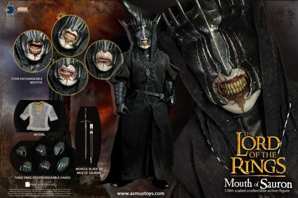 VORBESTELLUNG ! LORD OF THE RINGS THE MOUTH OF SAURON 1/6 ACTIONFIGUR