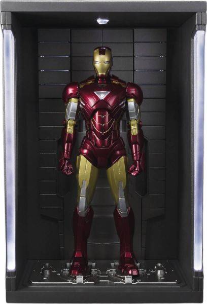 MARVEL IRON MAN MARK VI S.H.FIGUARTS ACTIONFIGUR WITH HALL OF ARMOR SET
