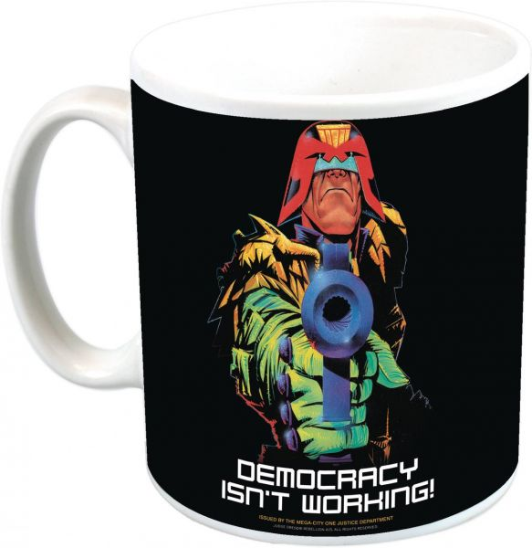 JUDGE DREDD DEMOCRACY ISNT WORKING PX COFFEE MUG