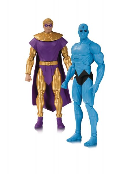 WATCHMEN DOOMSDAY CLOCK DR MANHATTAN & OZYMANDIAS ACTIONFIGUREN 2-PACK