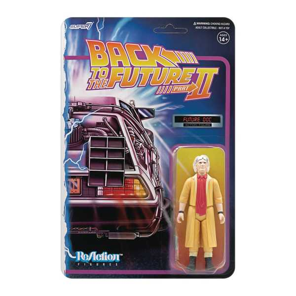 BACK TO THE FUTURE 2 DOC BROWN REACTION ACTIONFIGUR