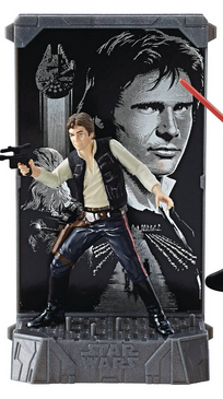 STAR WARS BLACK SERIES DIE-CAST TITANIUM HAN SOLO FIGUR