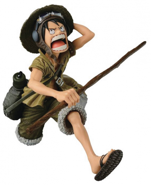 ONE PIECE SCULTURES BIG ZOUKEIO CAMO LUFFY FIGUR